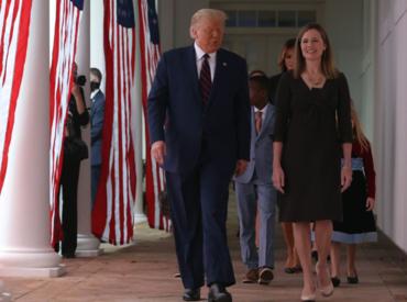트럼프, 새 연방대법관에 에이미 배럿 판사 지명