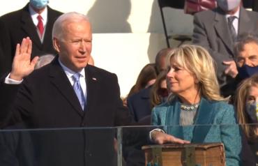 조 바이든 미 제46대 대통령 취임...선서한 성경 눈길